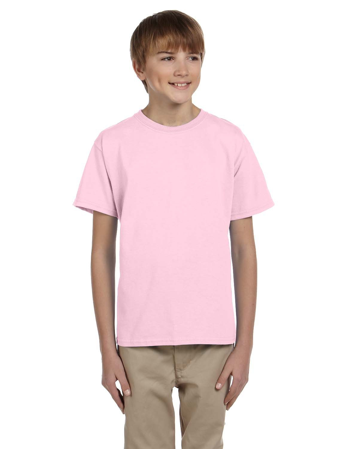 Fruit of the Loom Youth HD Cotton™ T-Shirt CLASSIC PINK