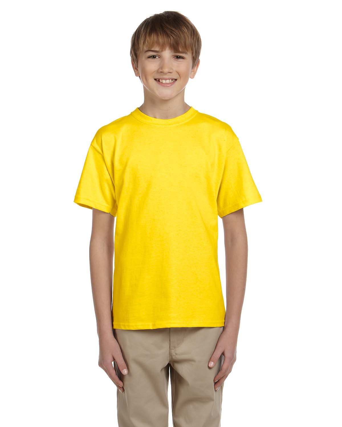 Fruit of the Loom Youth HD Cotton™ T-Shirt YELLOW