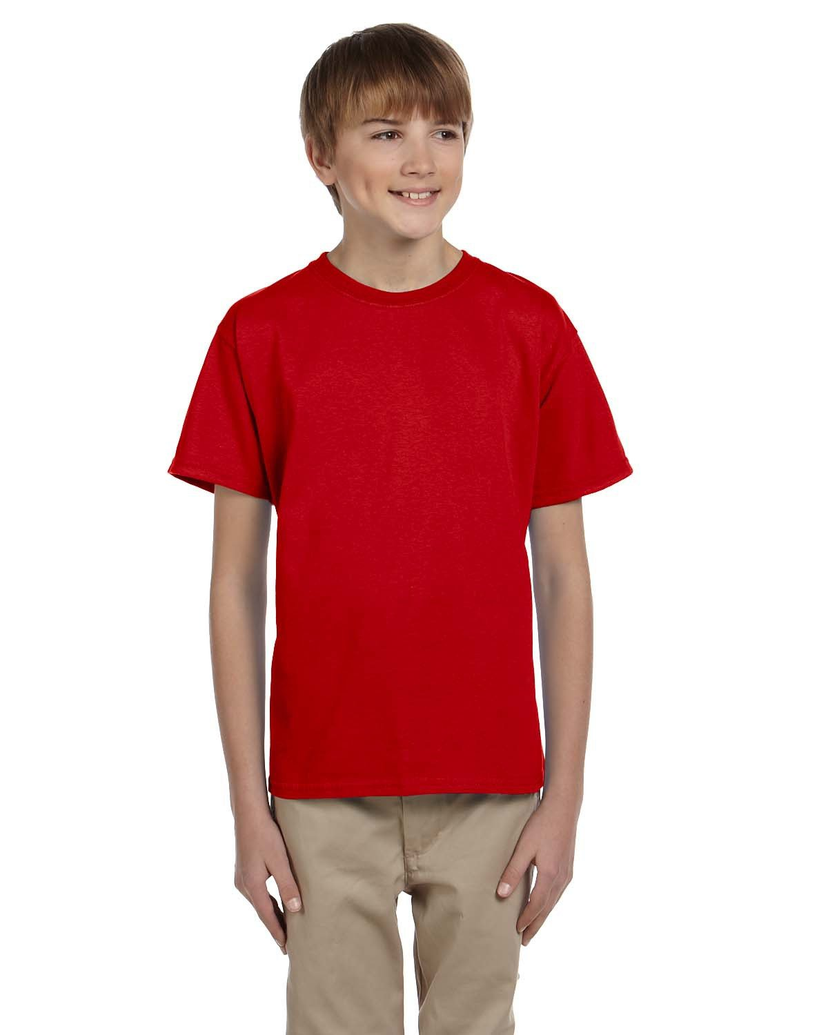 Fruit of the Loom Youth HD Cotton™ T-Shirt TRUE RED