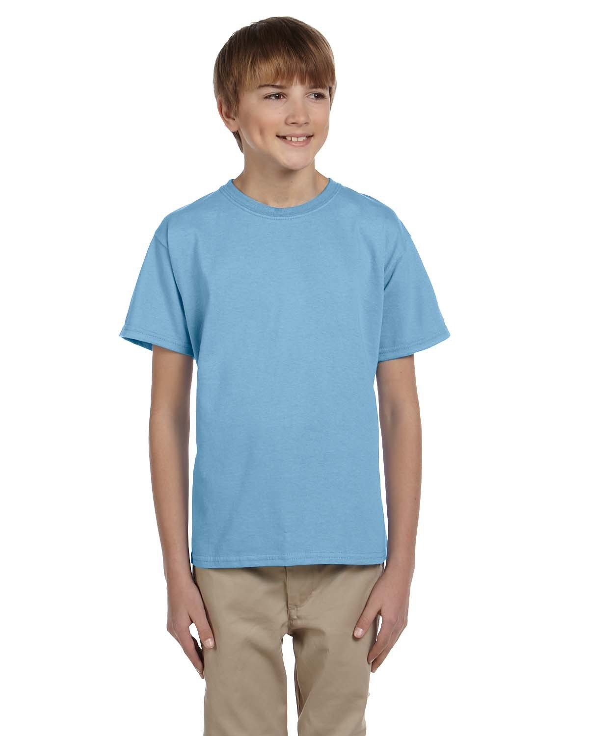 Fruit of the Loom Youth HD Cotton™ T-Shirt LIGHT BLUE