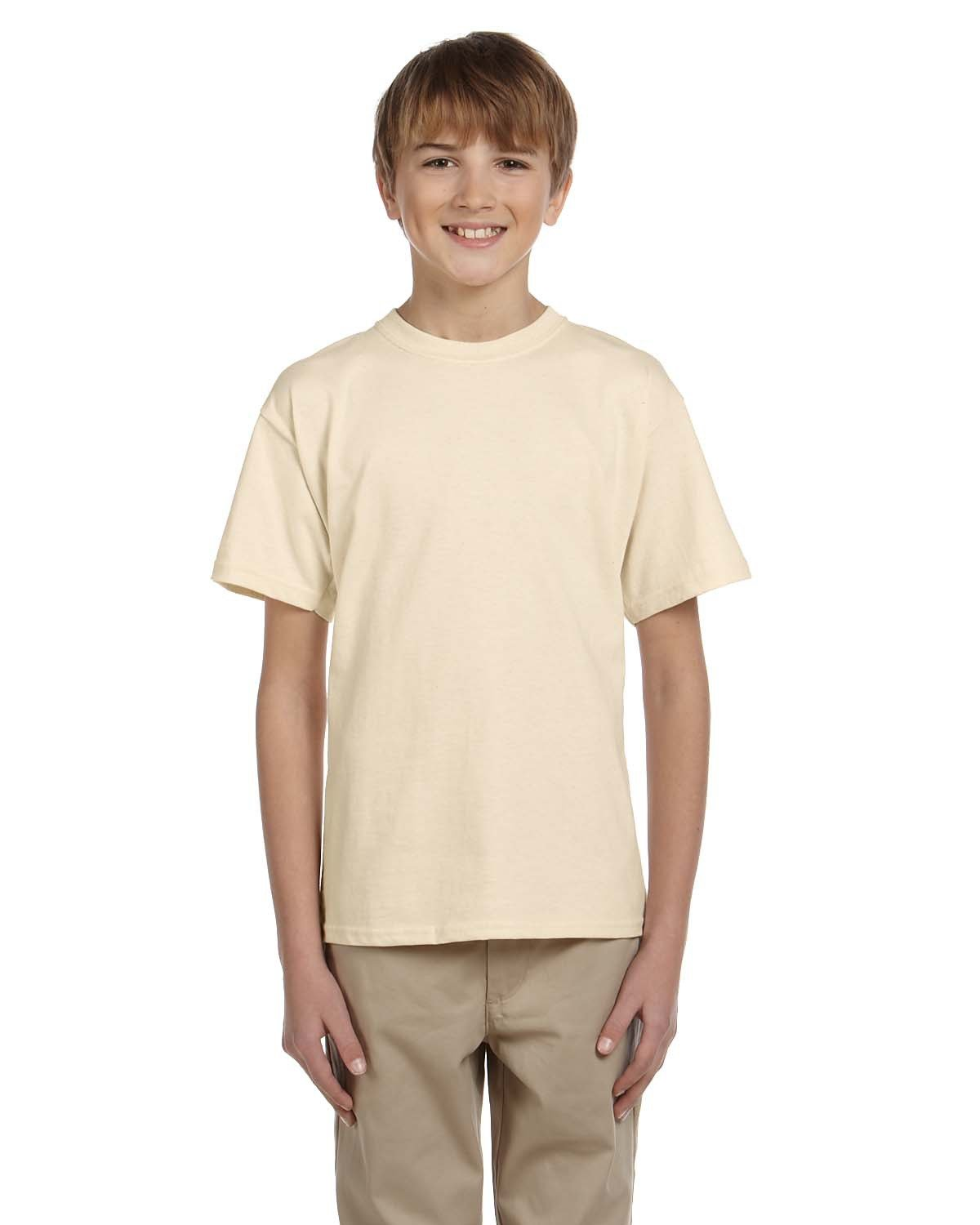 Fruit of the Loom Youth HD Cotton™ T-Shirt NATURAL