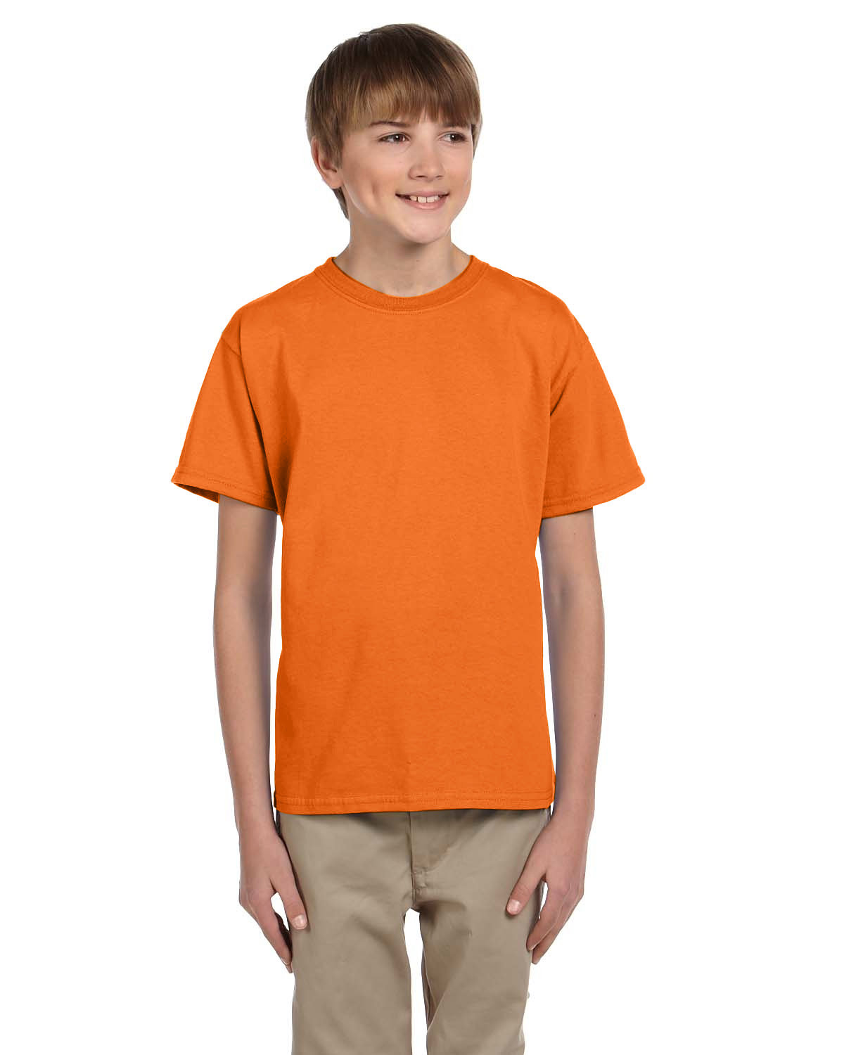 Fruit of the Loom Youth HD Cotton™ T-Shirt SAFETY ORANGE