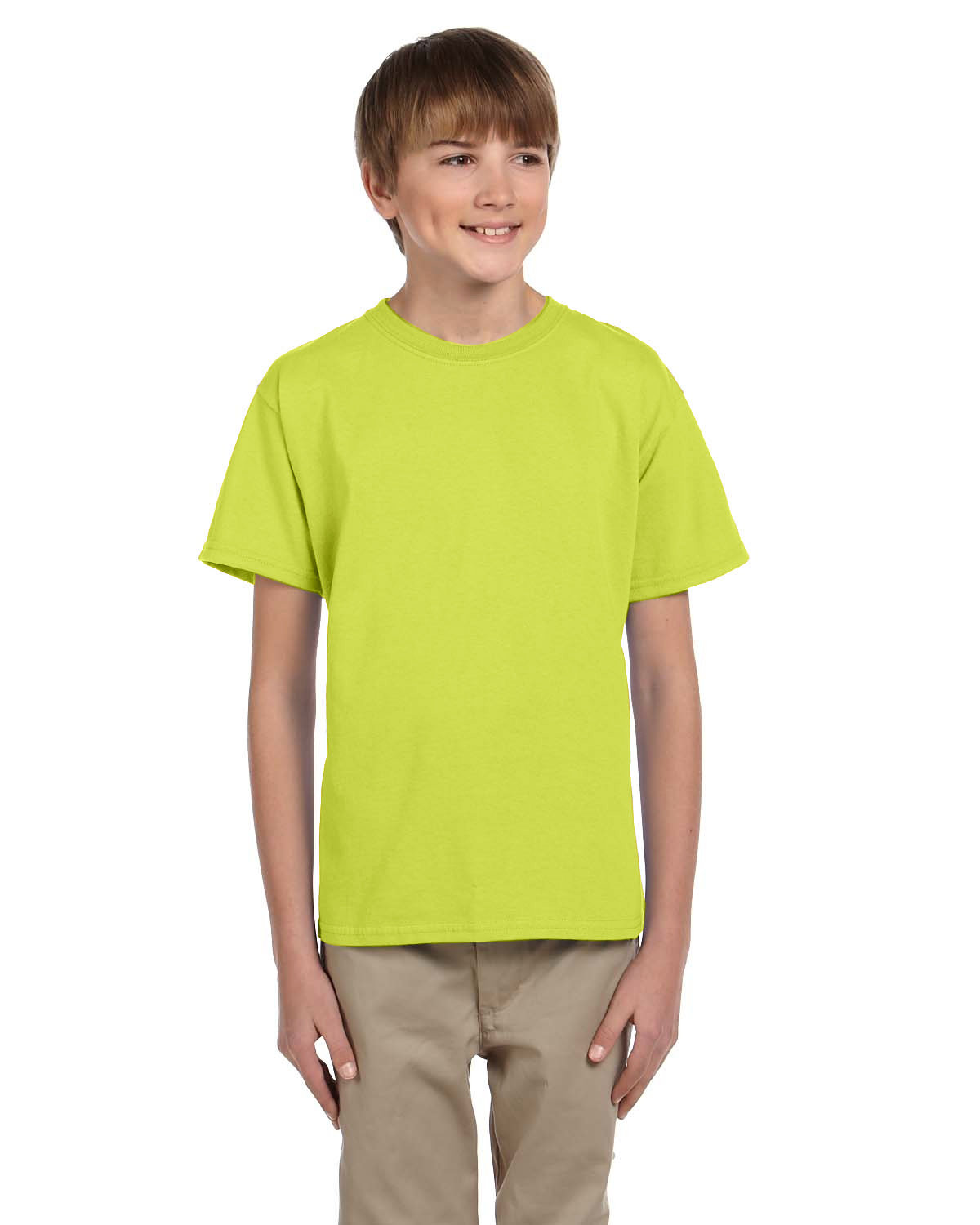 Fruit of the Loom Youth HD Cotton™ T-Shirt SAFETY GREEN