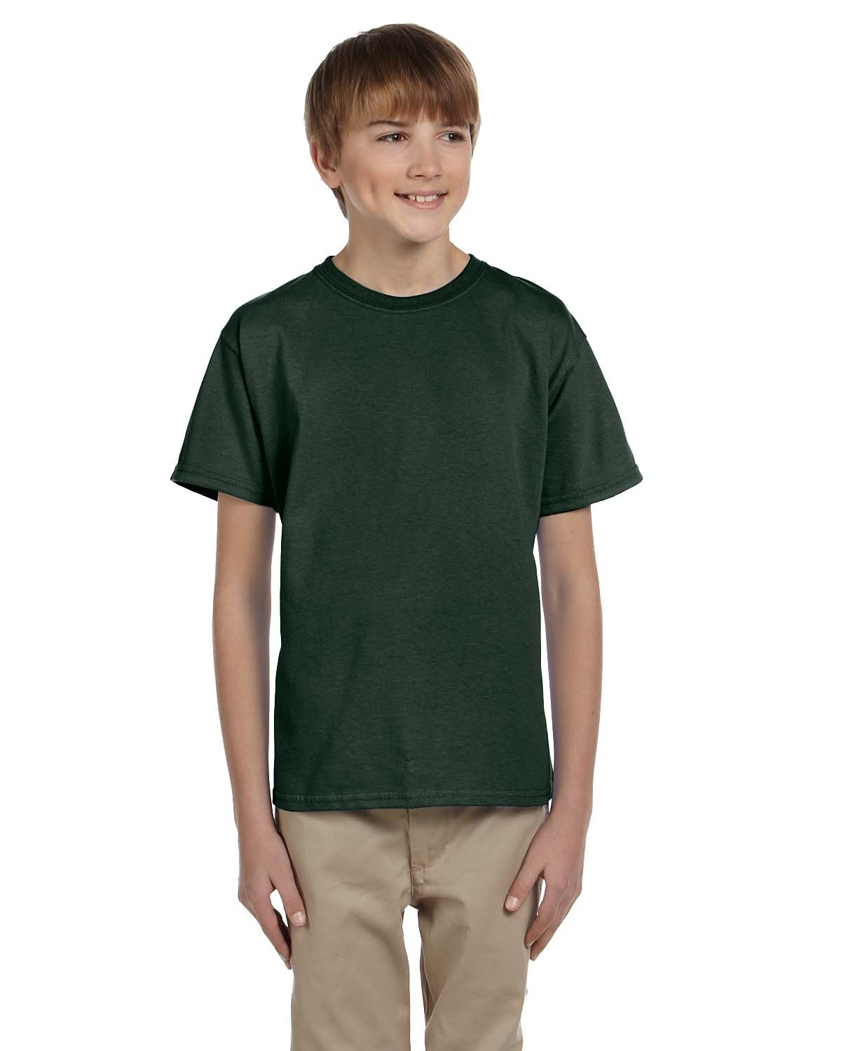 Fruit of the Loom Youth HD Cotton™ T-Shirt FOREST GREEN