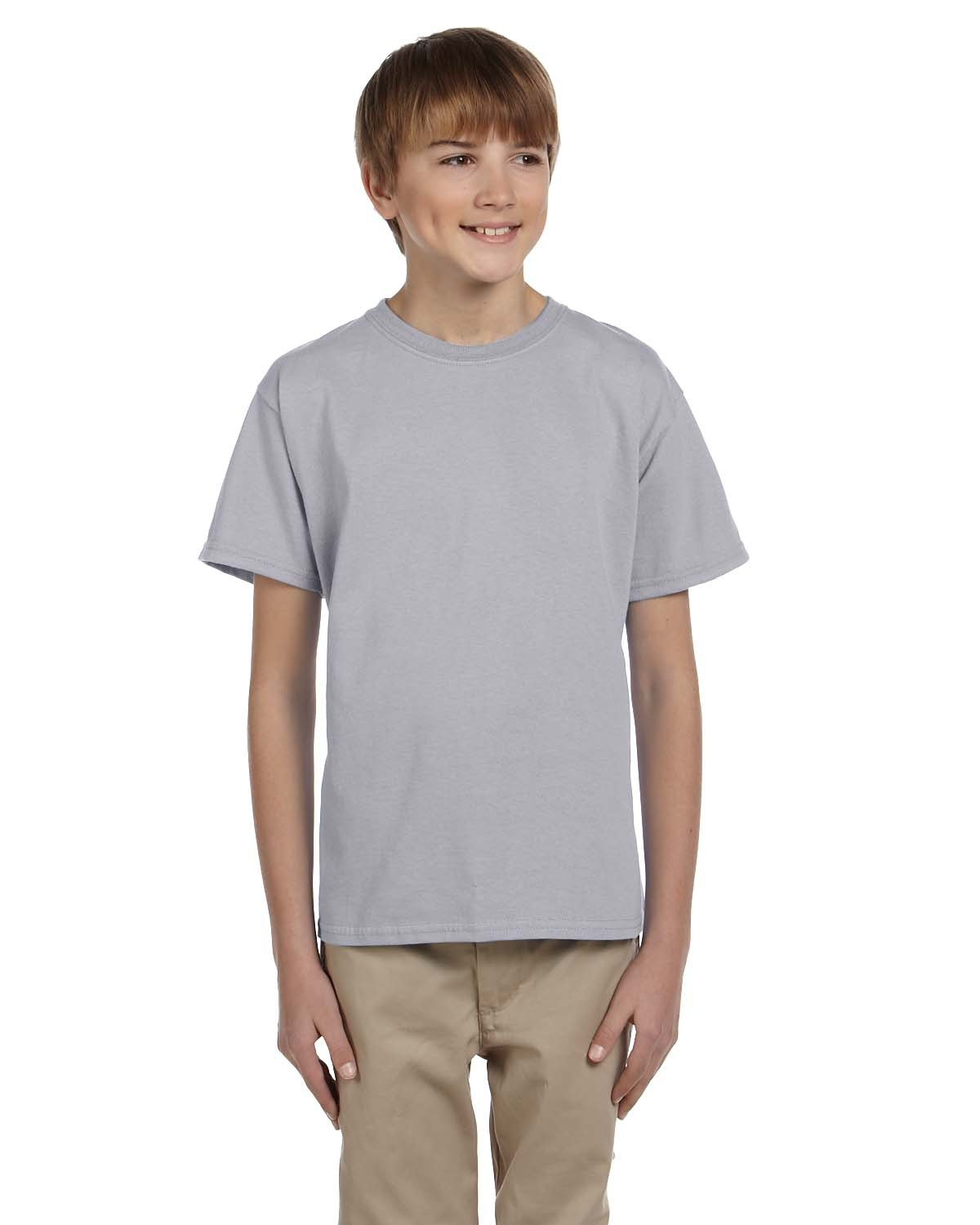 Fruit of the Loom Youth HD Cotton™ T-Shirt ATHLETIC HEATHER