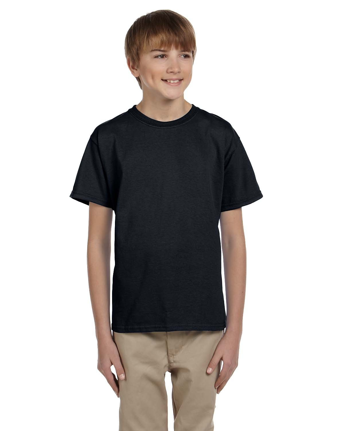 Fruit of the Loom Youth HD Cotton™ T-Shirt BLACK