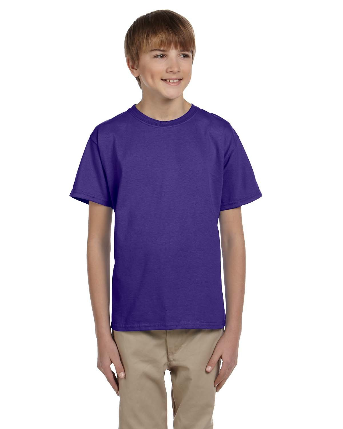 Fruit of the Loom Youth HD Cotton™ T-Shirt PURPLE