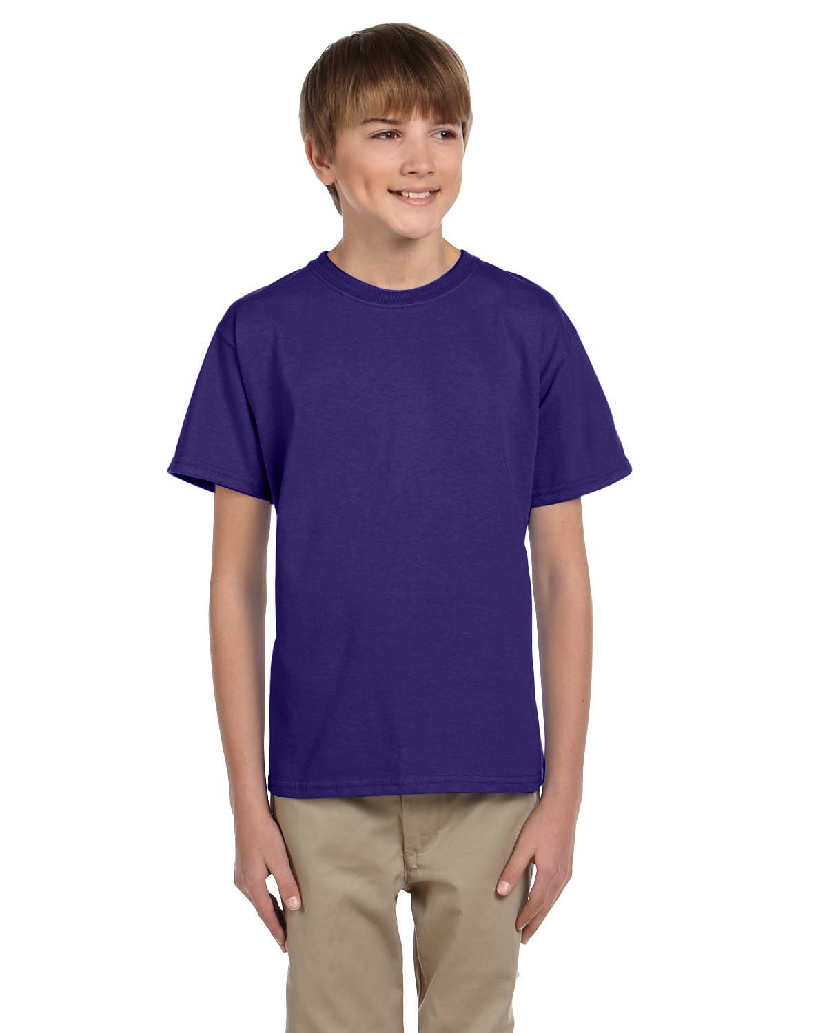 Fruit of the Loom Youth HD Cotton™ T-Shirt DEEP PURPLE