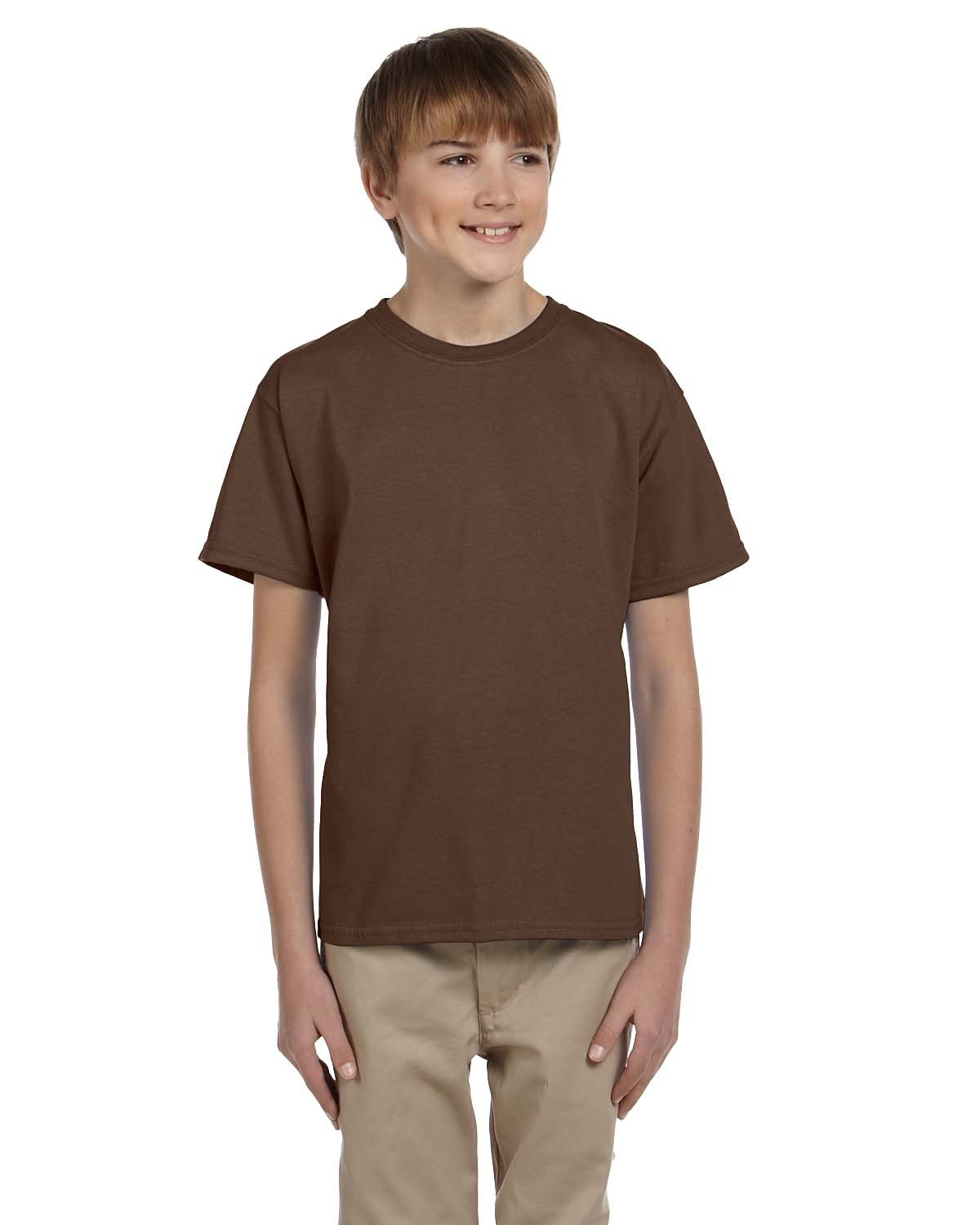 Fruit of the Loom Youth HD Cotton™ T-Shirt CHOCOLATE