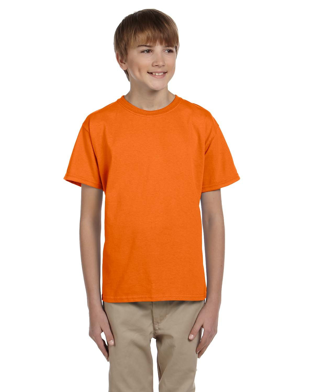 Fruit of the Loom Youth HD Cotton™ T-Shirt TENNESSEE ORANGE