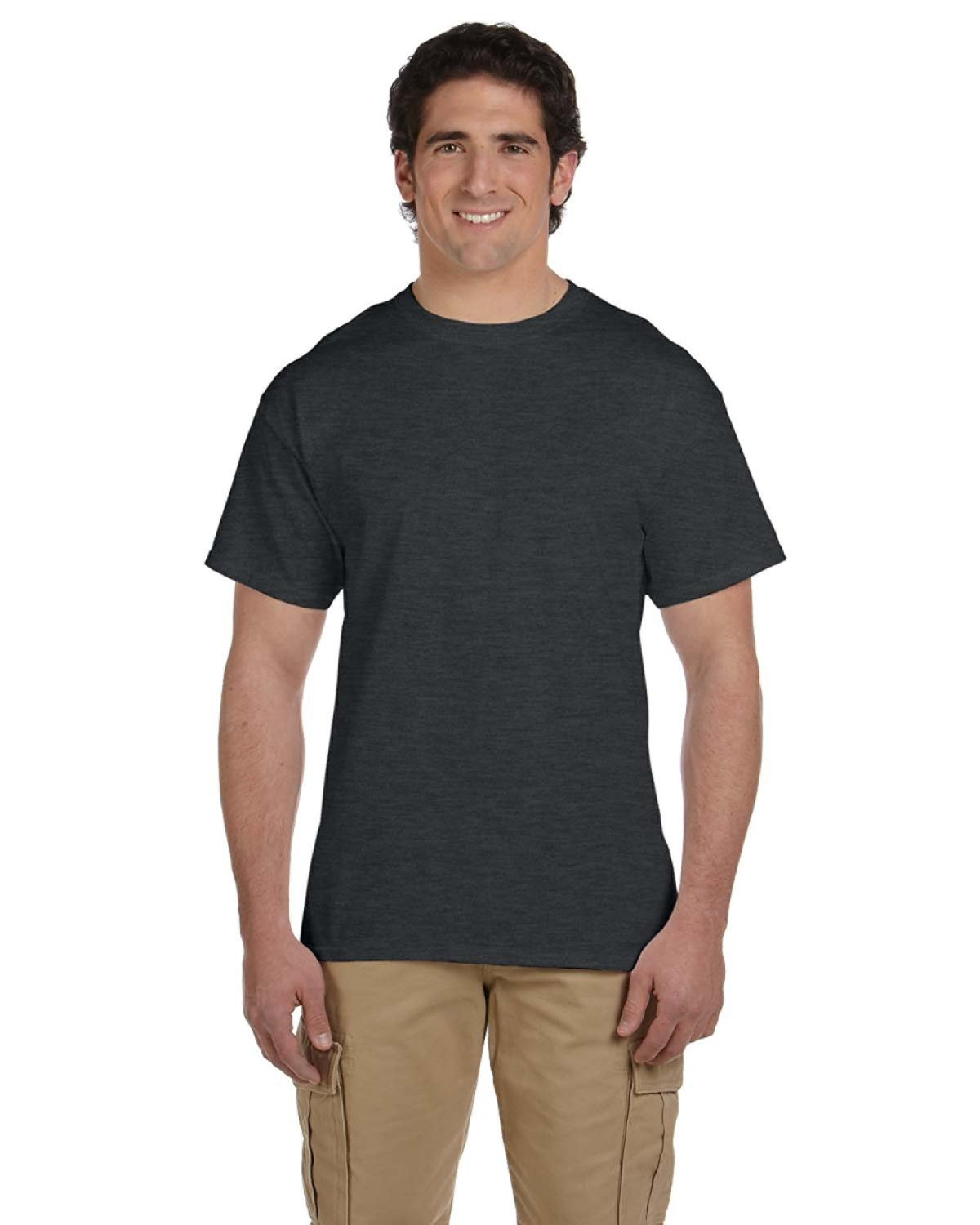 Fruit of the Loom Youth HD Cotton™ T-Shirt BLACK HEATHER