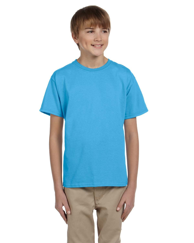 Fruit of the Loom Youth HD Cotton™ T-Shirt AQUATIC BLUE