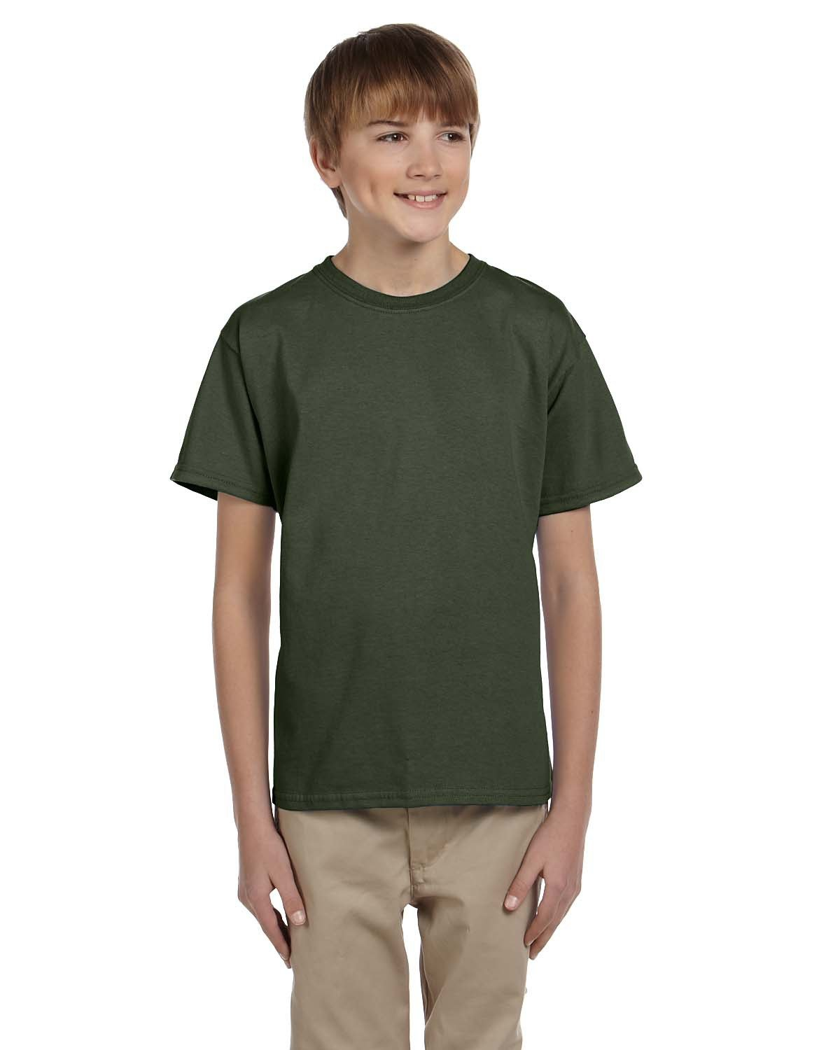 Fruit of the Loom Youth HD Cotton™ T-Shirt MILITARY GREEN