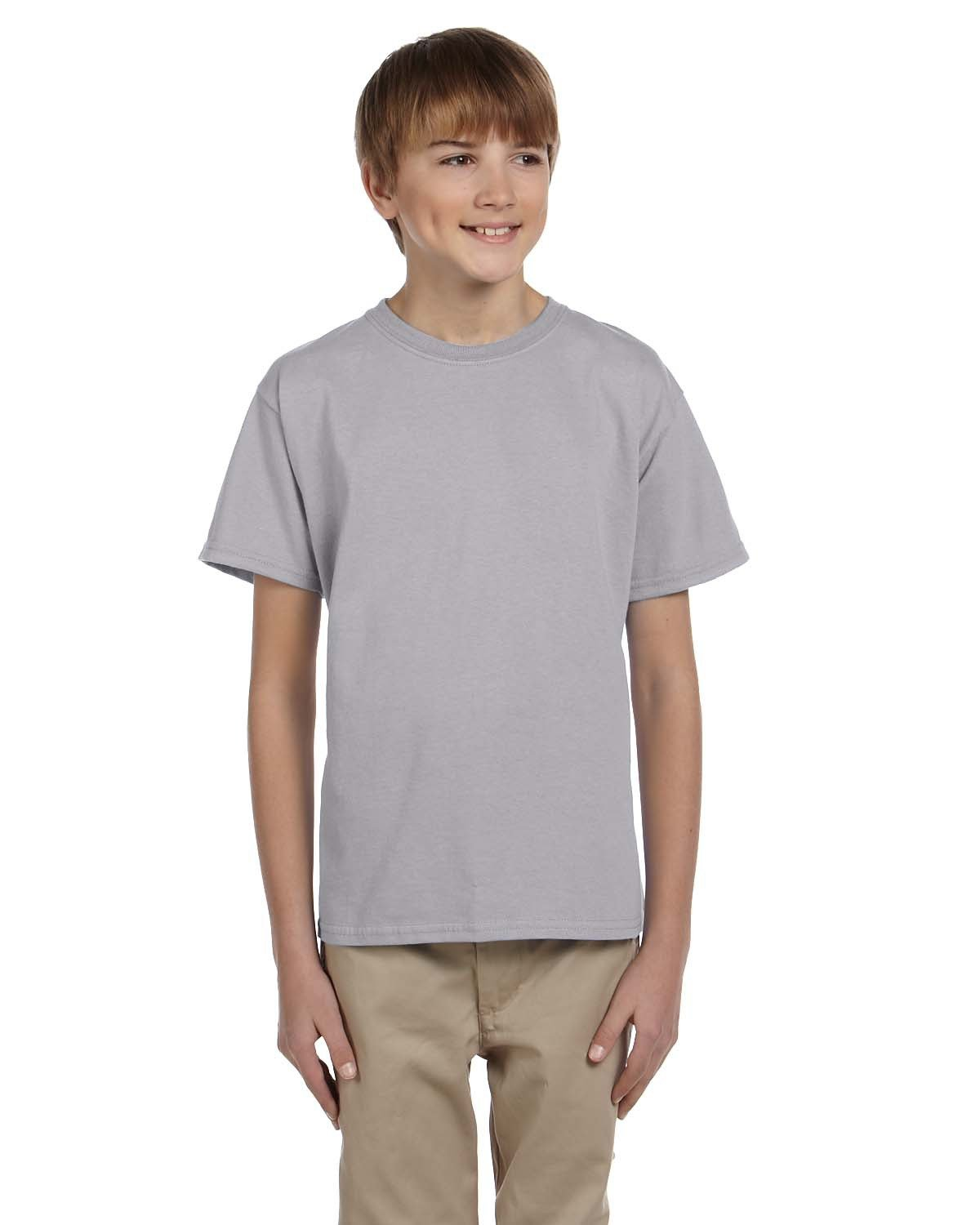 Fruit of the Loom Youth HD Cotton™ T-Shirt SILVER
