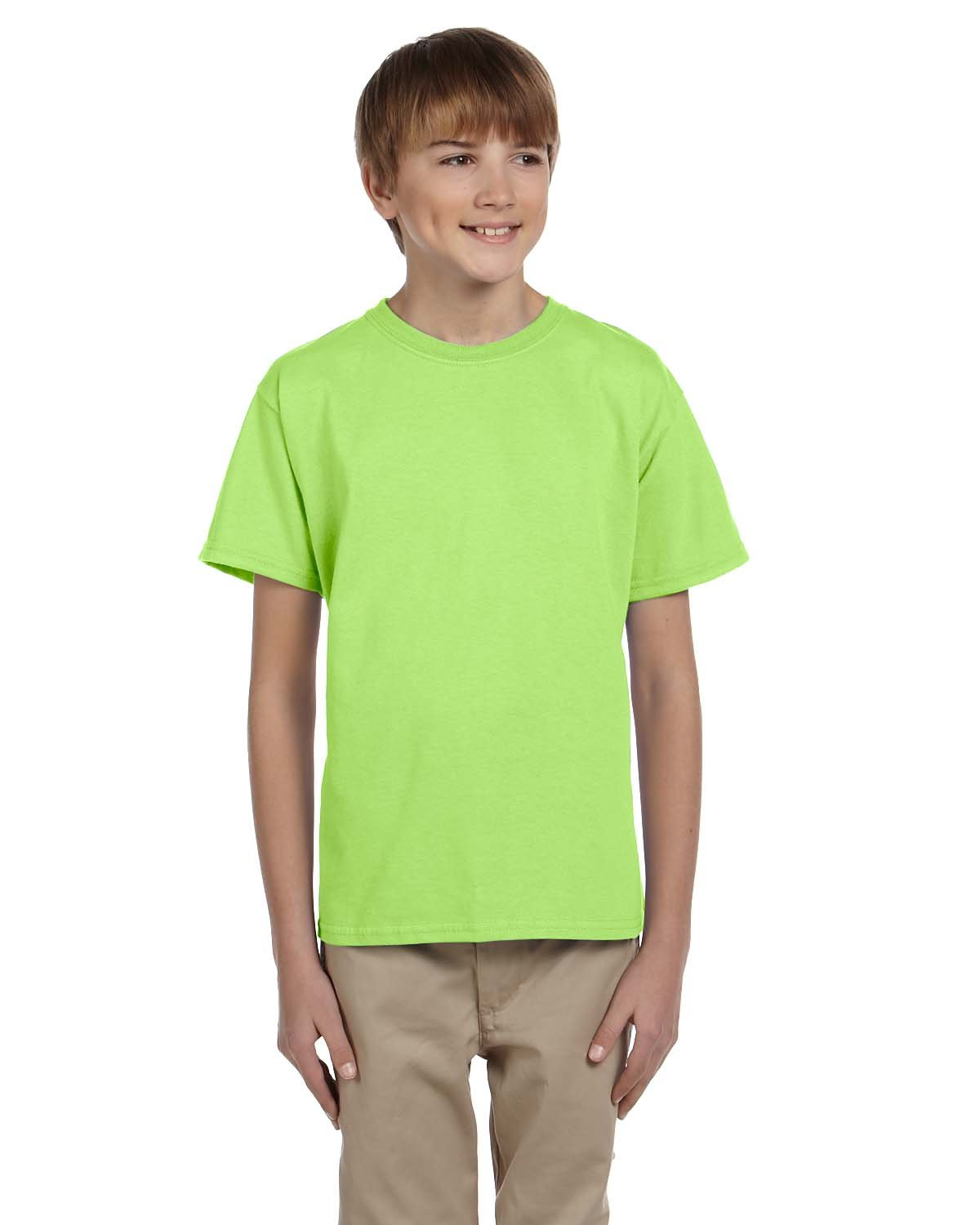 Fruit of the Loom Youth HD Cotton™ T-Shirt NEON GREEN