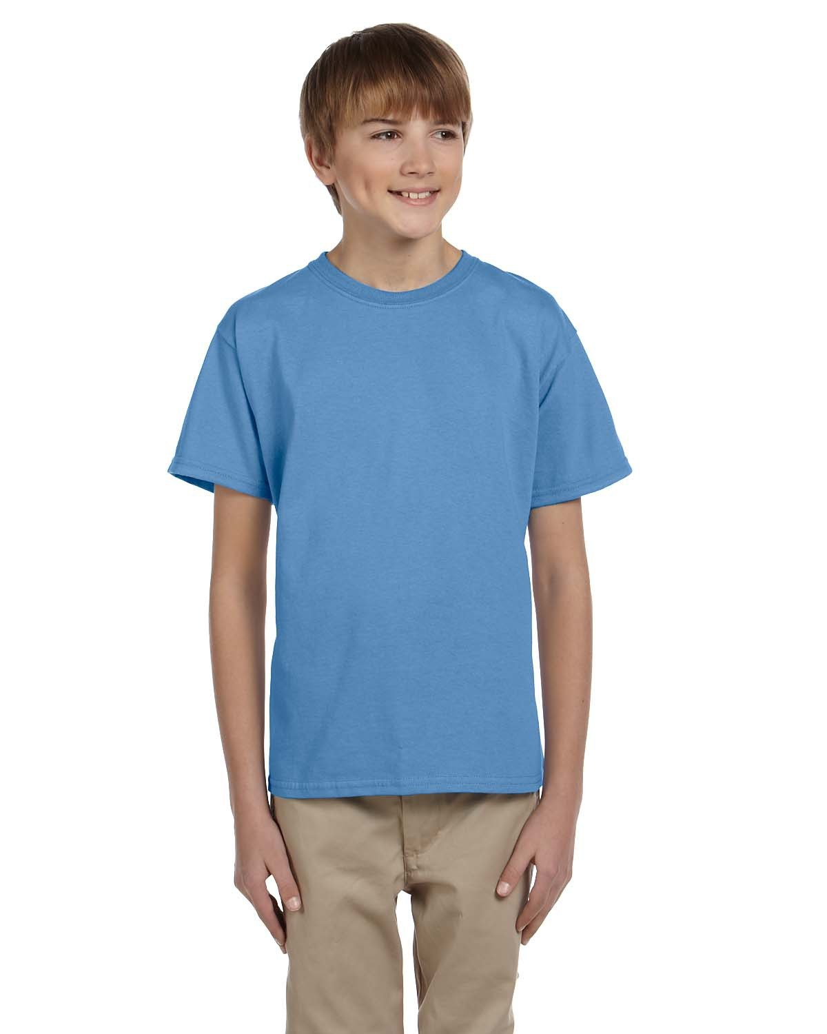 Fruit of the Loom Youth HD Cotton™ T-Shirt COLUMBIA BLUE
