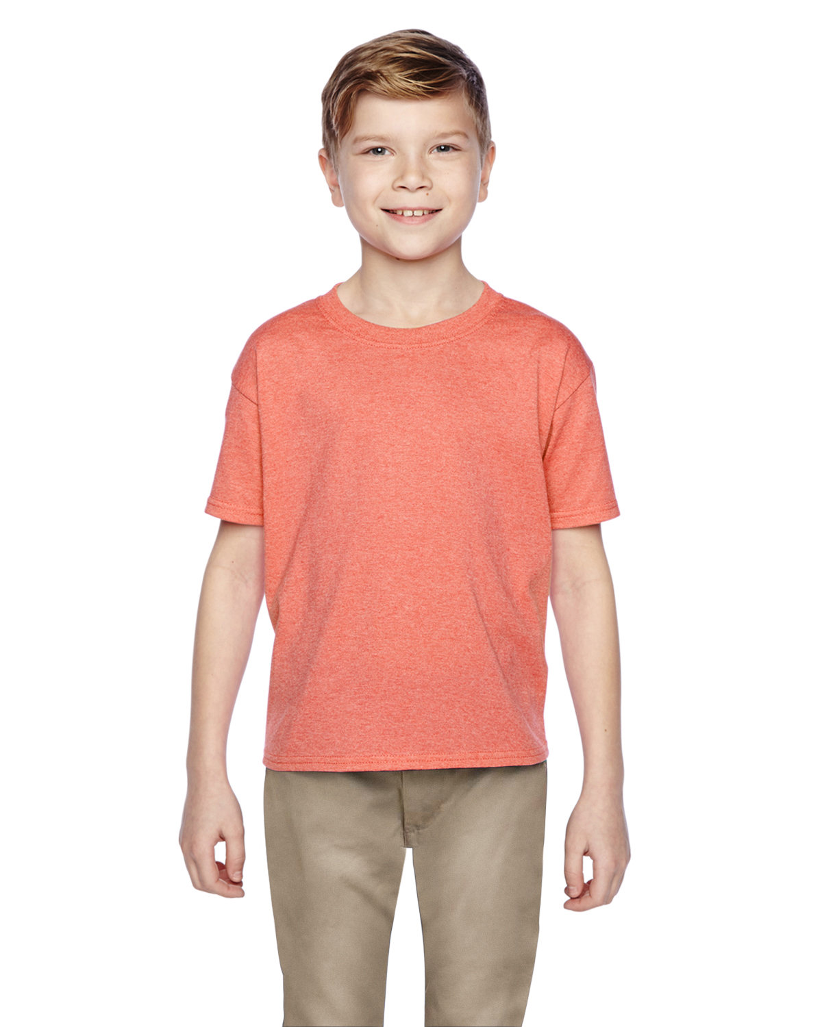 Fruit of the Loom Youth HD Cotton™ T-Shirt RETRO HTH CORAL