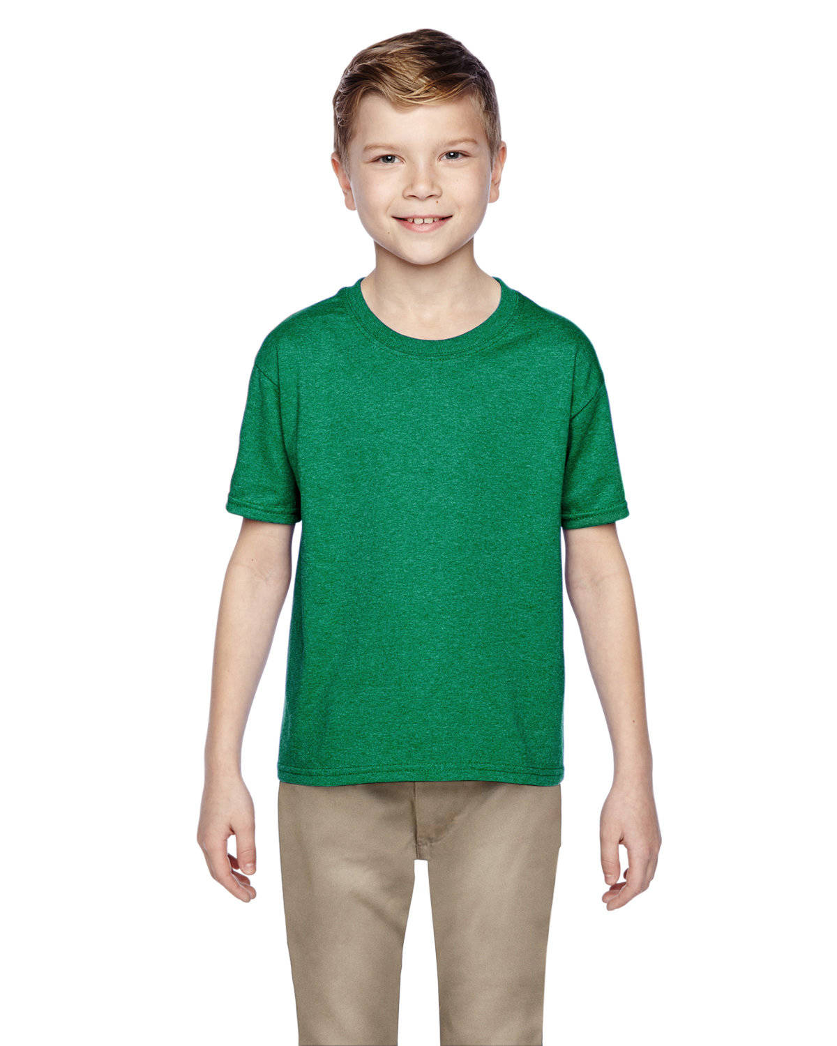 Fruit of the Loom Youth HD Cotton™ T-Shirt RETRO HTH GREEN