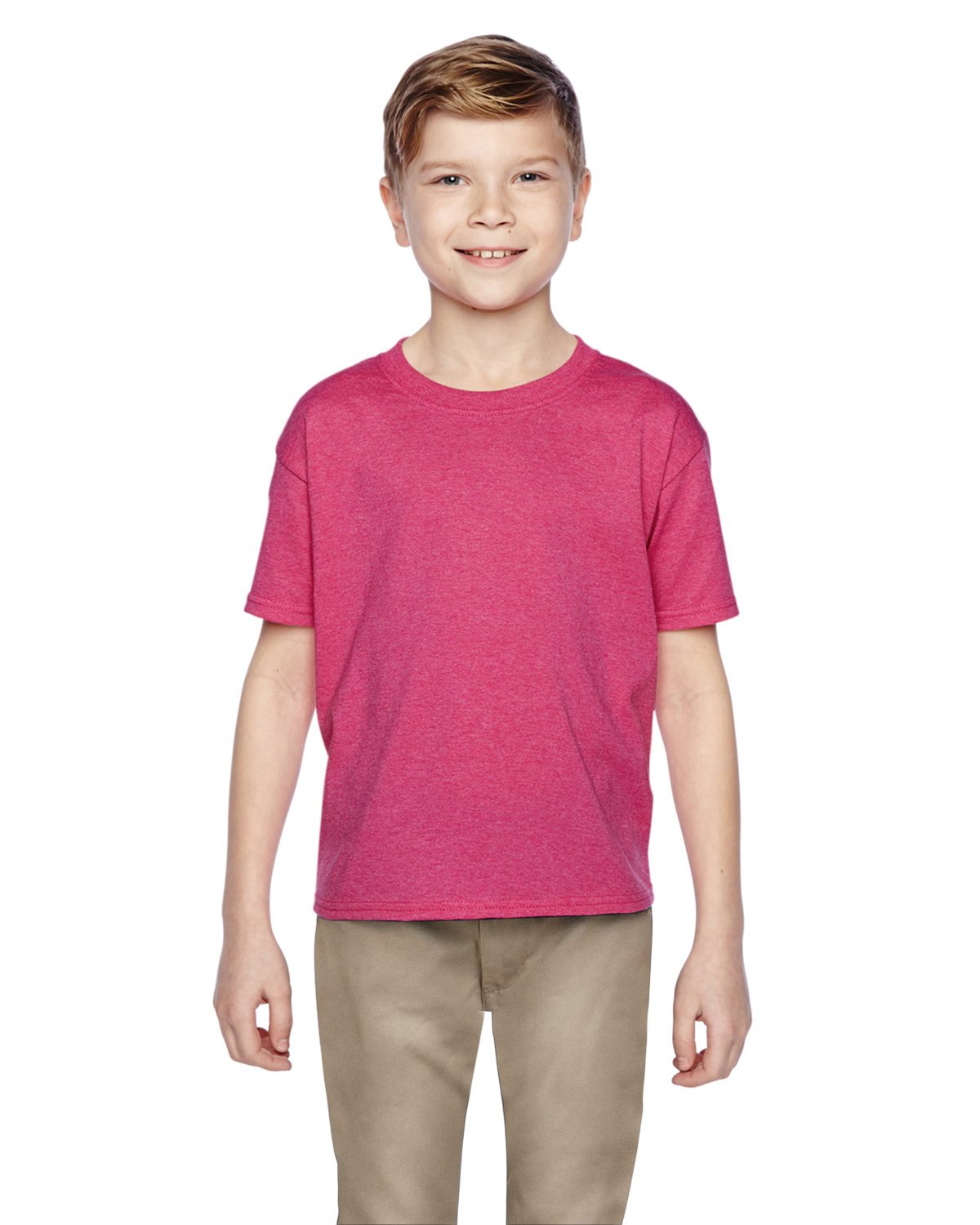Fruit of the Loom Youth HD Cotton™ T-Shirt RETRO HTH PINK