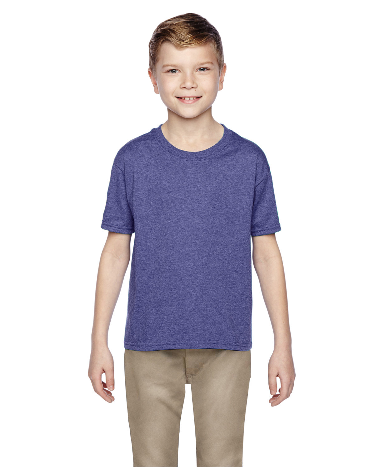 Fruit of the Loom Youth HD Cotton™ T-Shirt RETRO HTH PURP