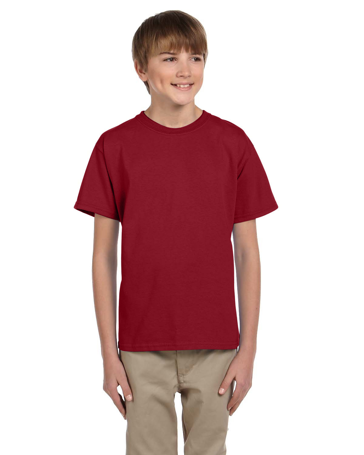 Fruit of the Loom Youth HD Cotton™ T-Shirt CRIMSON