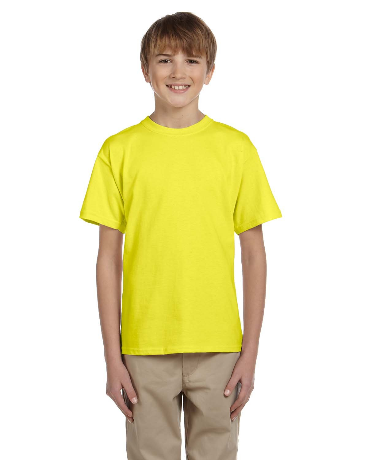 Fruit of the Loom Youth HD Cotton™ T-Shirt NEON YELLOW