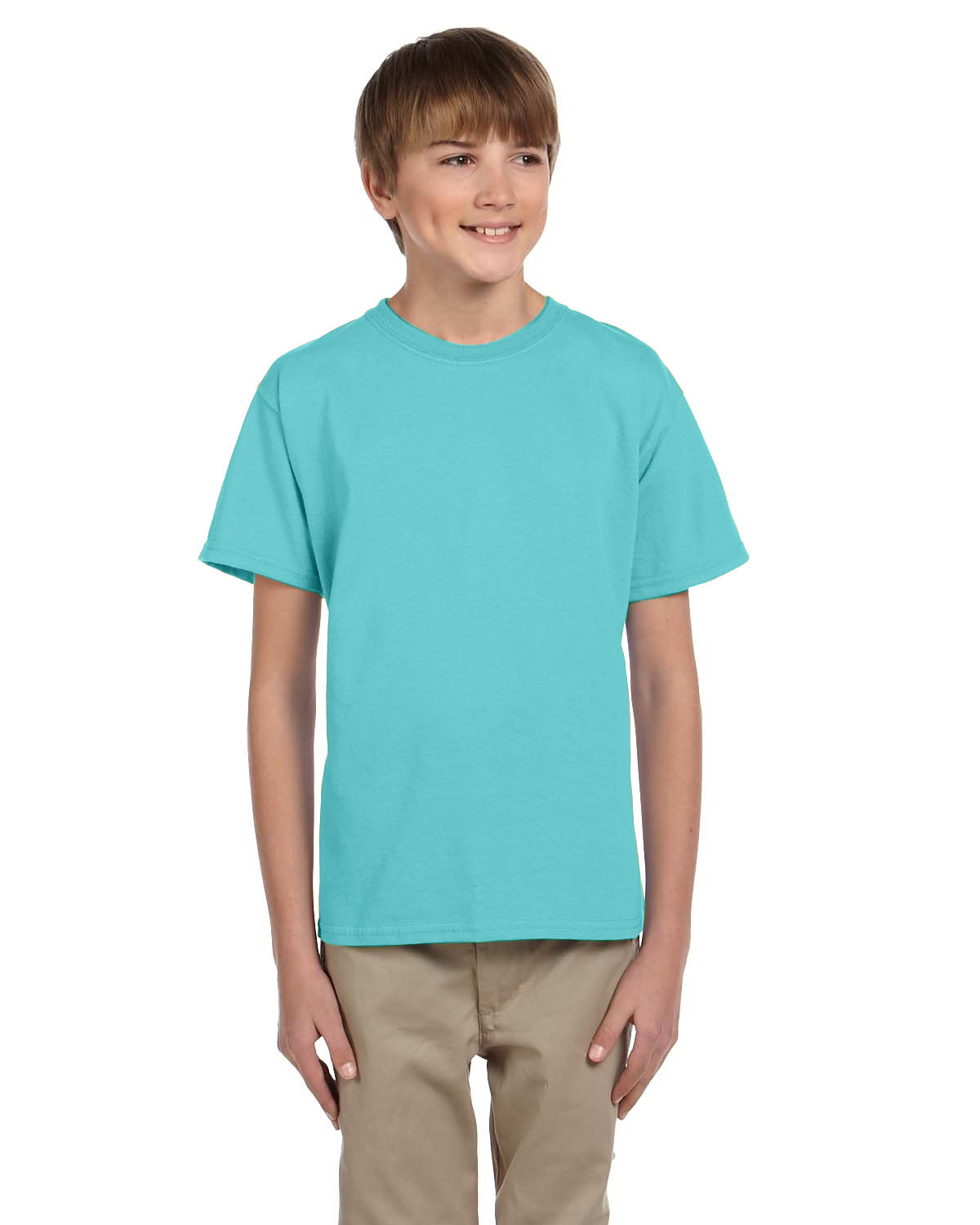 Fruit of the Loom Youth HD Cotton™ T-Shirt SCUBA BLUE