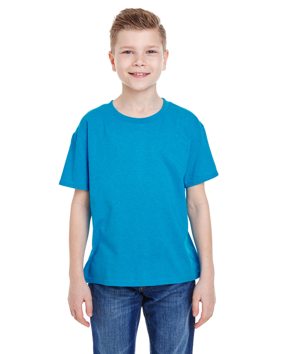 Fruit of the Loom Youth HD Cotton™ T-Shirt TURQUOISE HTHR