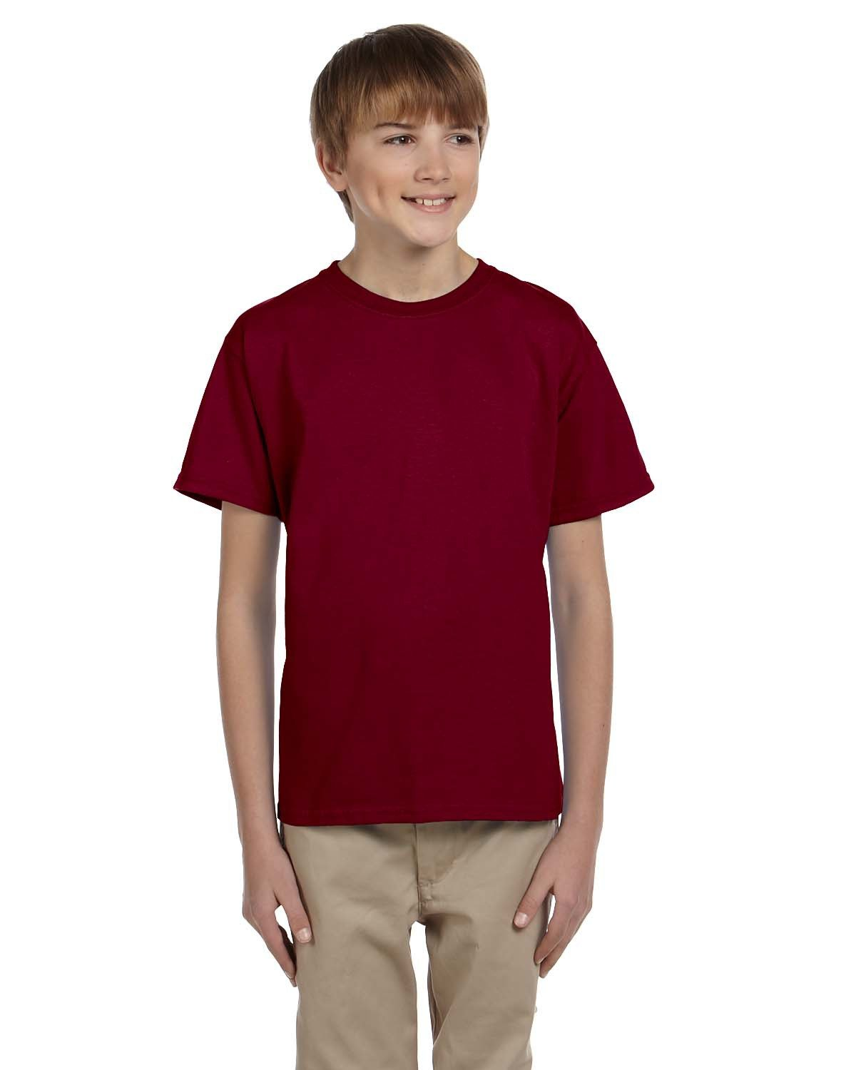 Fruit of the Loom Youth HD Cotton™ T-Shirt MAROON