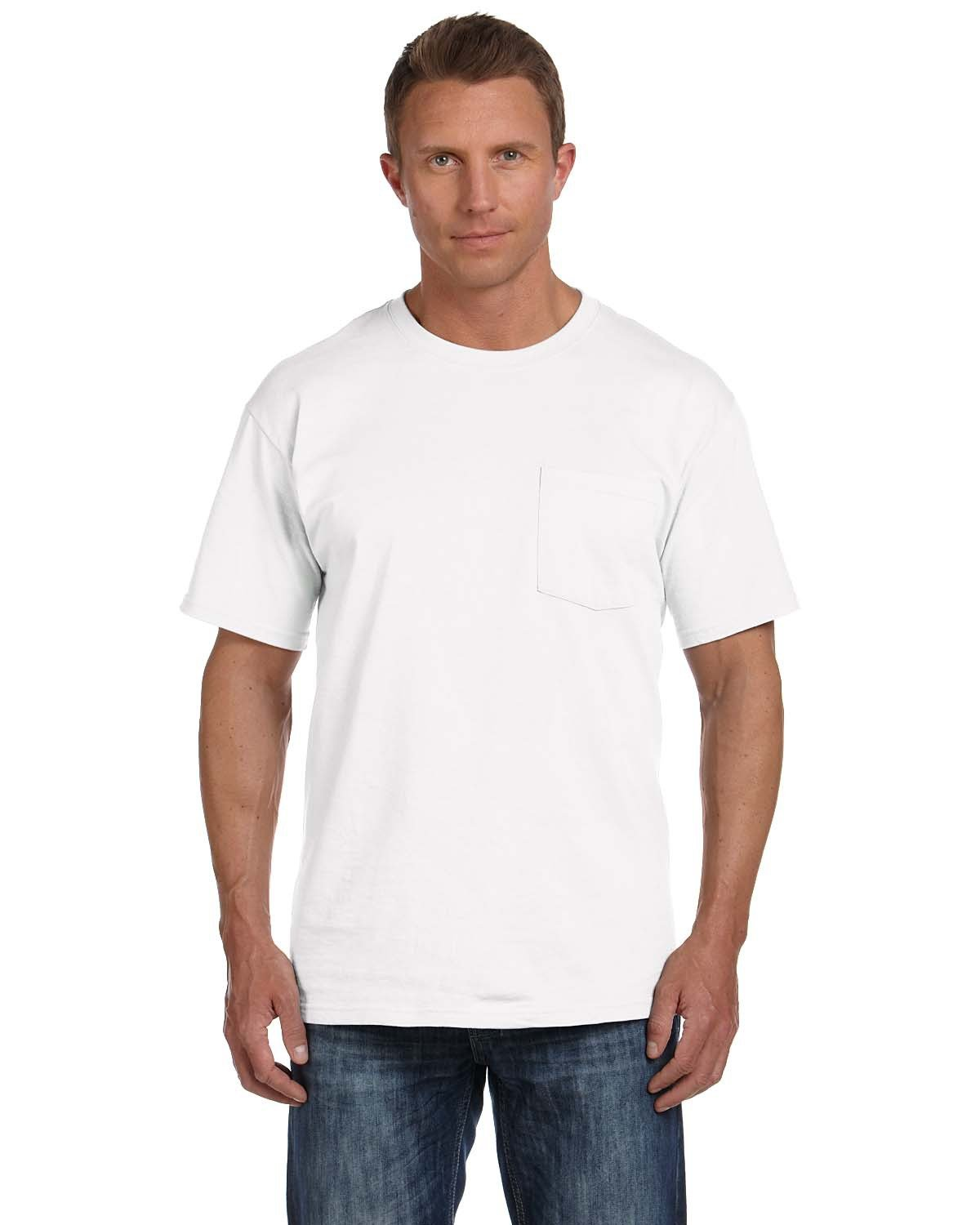 Fruit of the Loom Adult HD Cotton™ Pocket T-Shirt WHITE