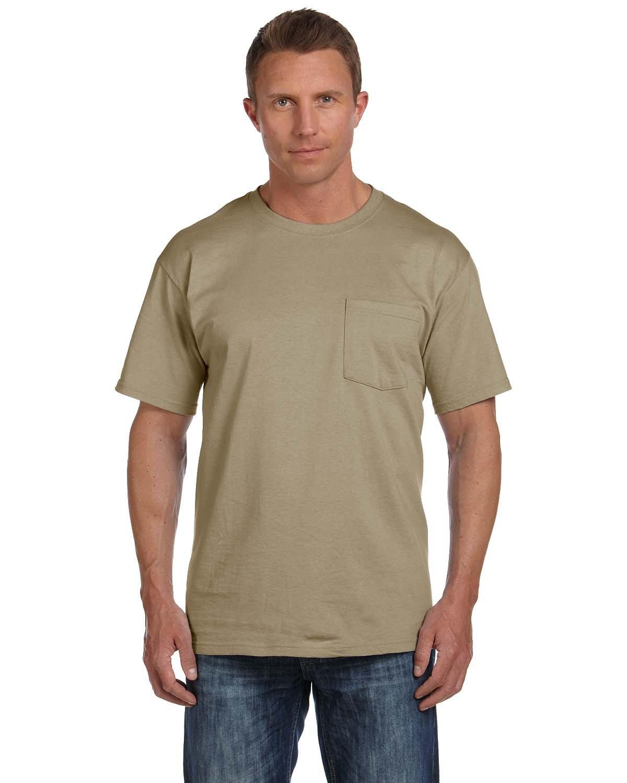 Fruit of the Loom Adult HD Cotton™ Pocket T-Shirt KHAKI