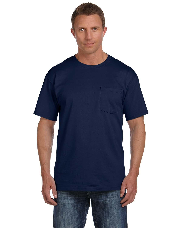Fruit of the Loom Adult HD Cotton™ Pocket T-Shirt J NAVY