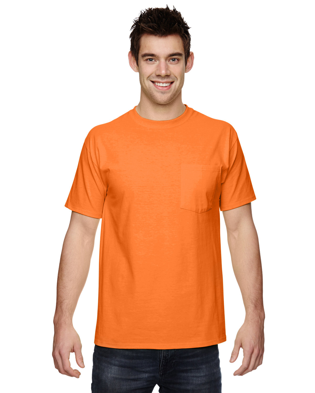 Fruit of the Loom Adult HD Cotton™ Pocket T-Shirt SAFETY ORANGE