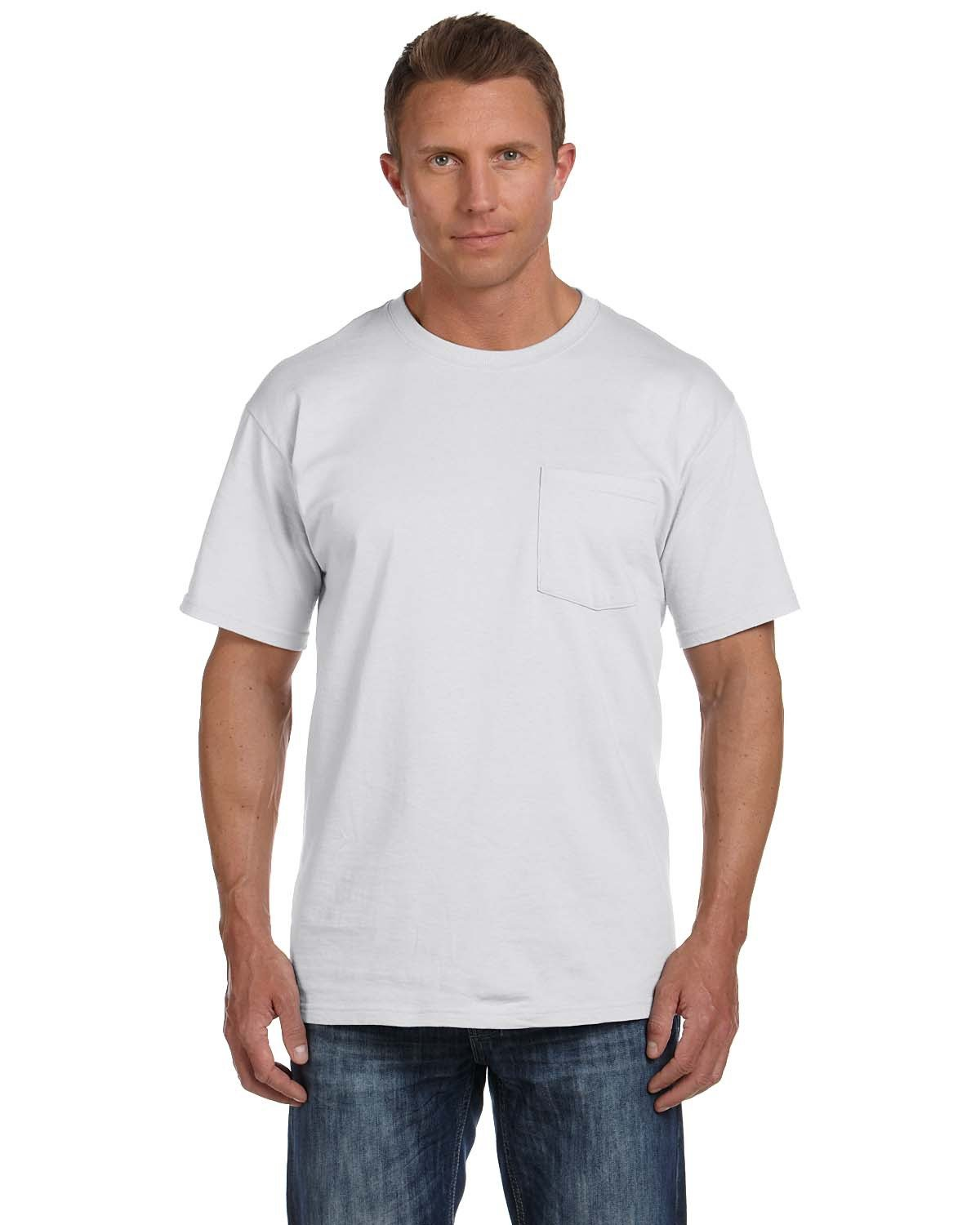 Fruit of the Loom Adult HD Cotton™ Pocket T-Shirt ASH
