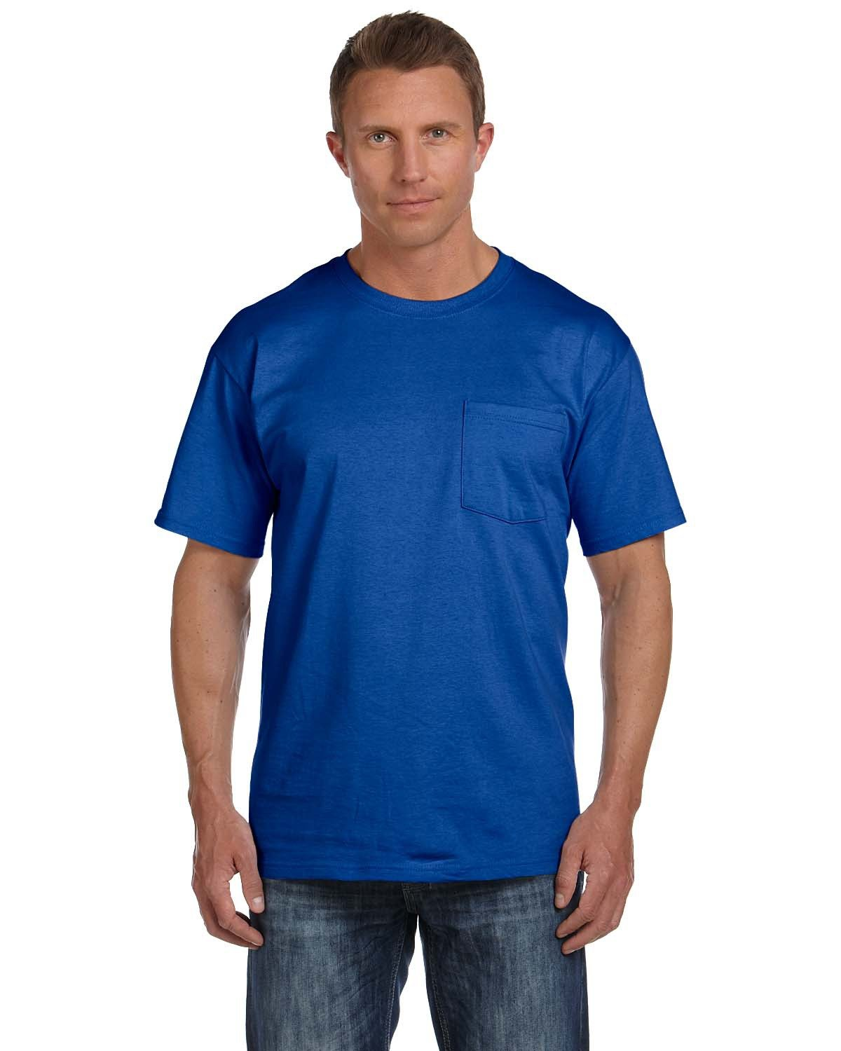 Fruit of the Loom Adult HD Cotton™ Pocket T-Shirt ROYAL
