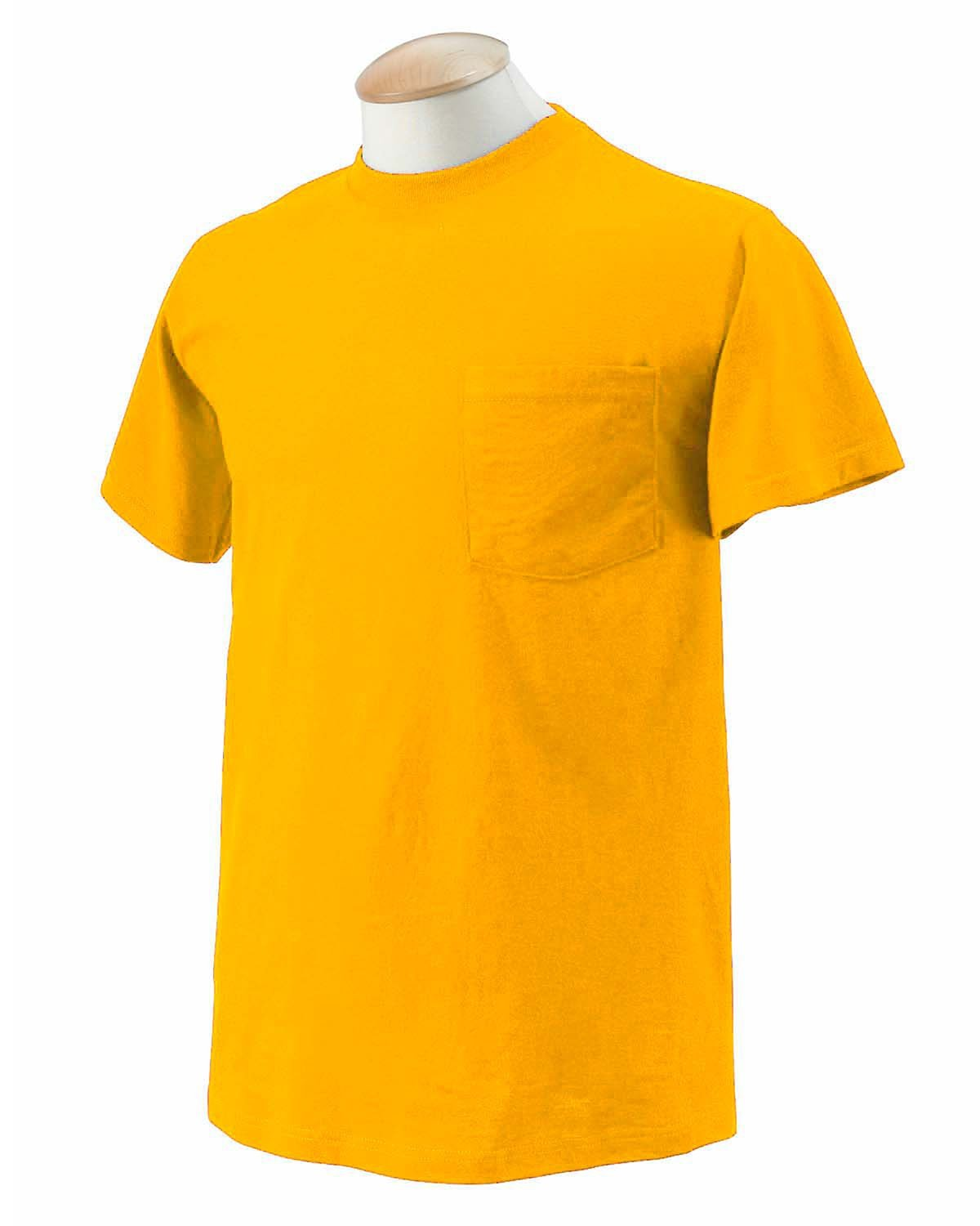 Fruit of the Loom Adult HD Cotton™ Pocket T-Shirt GOLD