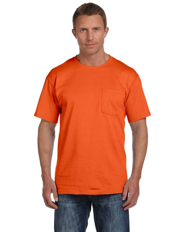 Fruit of the Loom Adult HD Cotton™ Pocket T-Shirt BURNT ORANGE