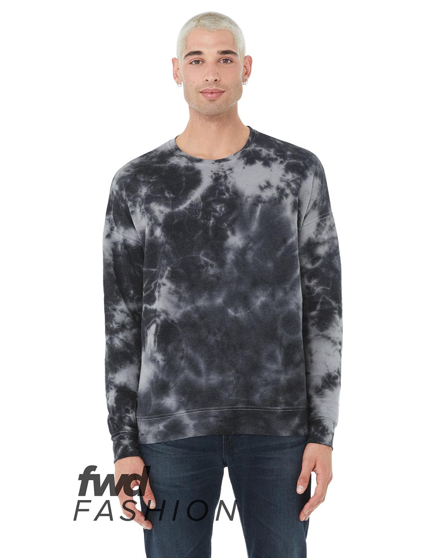 Bella + Canvas FWD Fashion Unisex Tie-Dye Pullover Sweatshirt WHT/ GRY/ BL TD