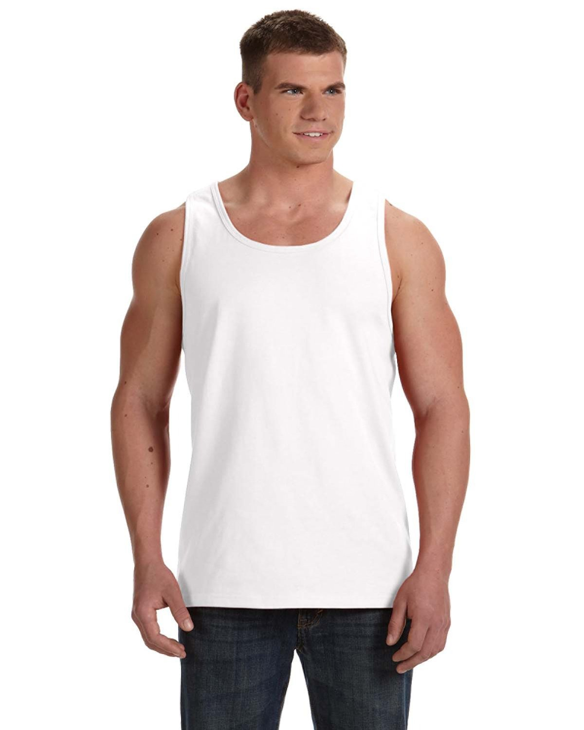 Fruit of the Loom Adult HD Cotton™ Tank WHITE