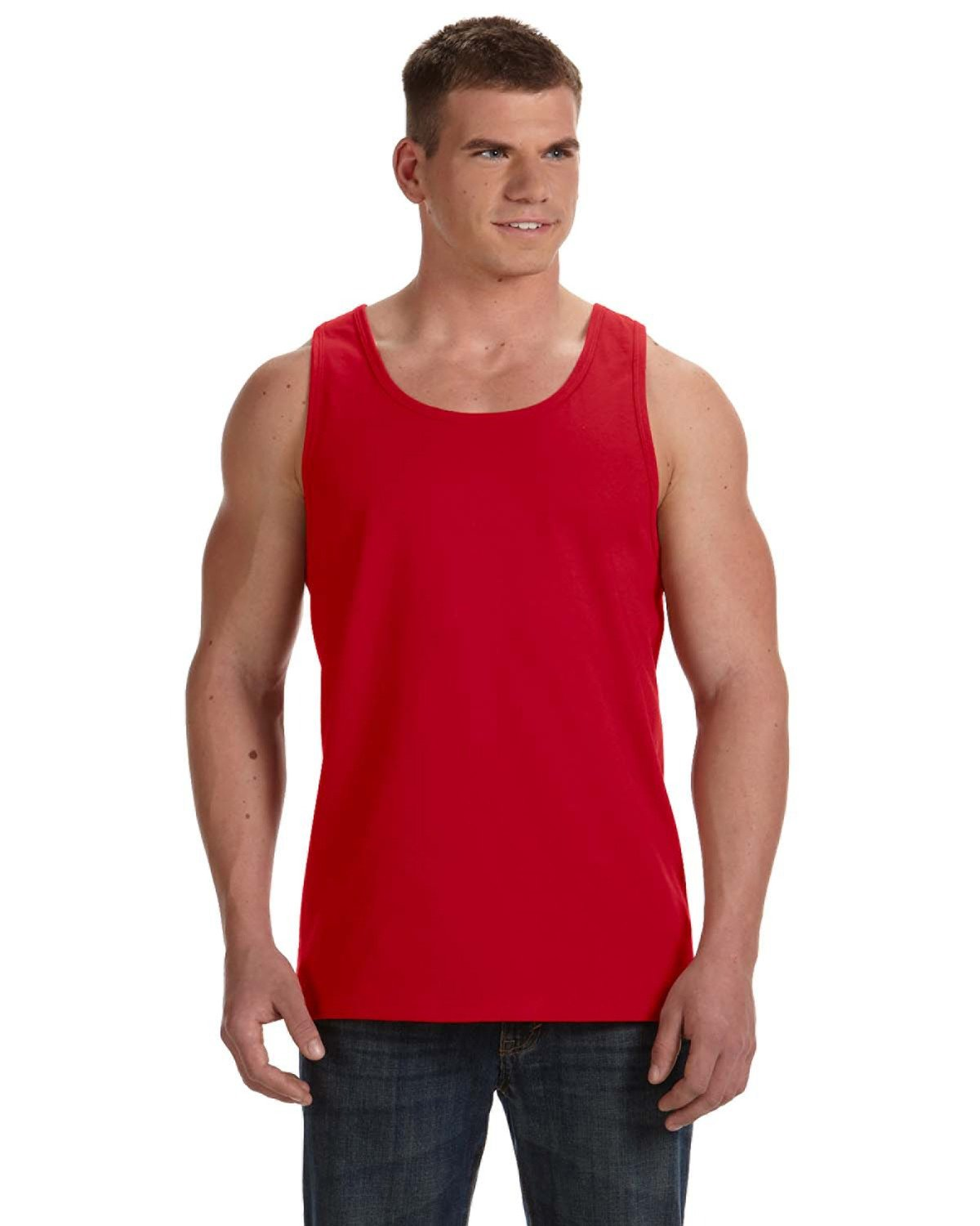 Fruit of the Loom Adult HD Cotton™ Tank TRUE RED
