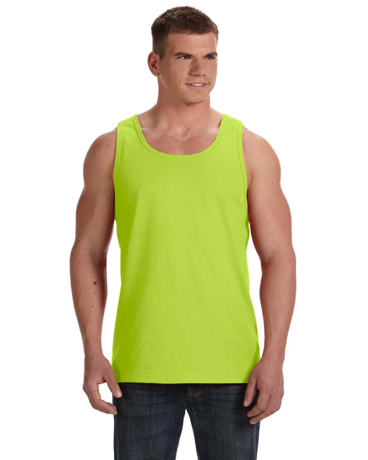 Fruit of the Loom Adult HD Cotton™ Tank SAFETY GREEN