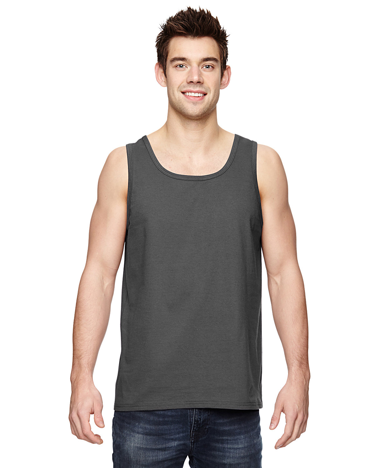 Fruit of the Loom Adult HD Cotton™ Tank CHARCOAL GREY