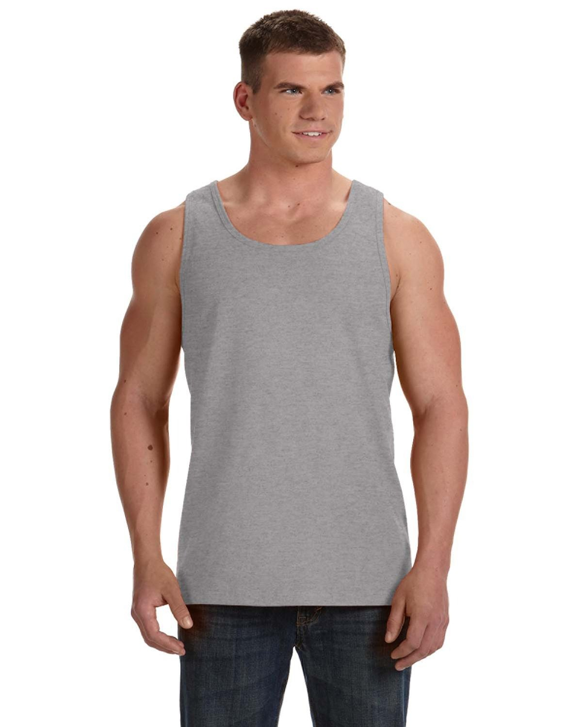 Fruit of the Loom Adult HD Cotton™ Tank ATHLETIC HEATHER