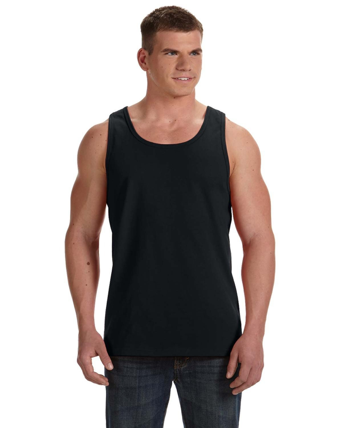 Fruit of the Loom Adult HD Cotton™ Tank BLACK