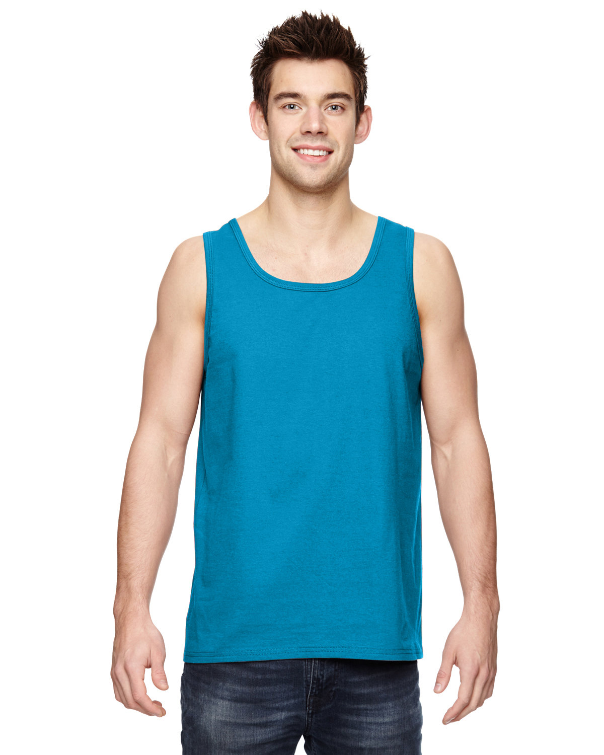 Fruit of the Loom Adult HD Cotton™ Tank PACIFIC BLUE