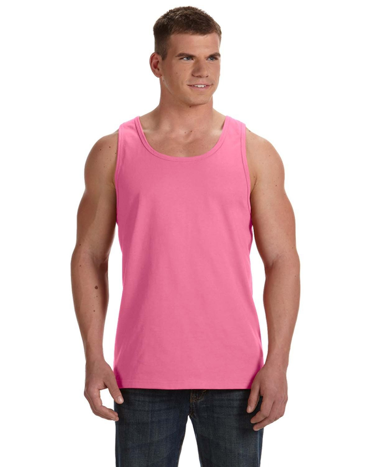 Fruit of the Loom Adult HD Cotton™ Tank NEON PINK