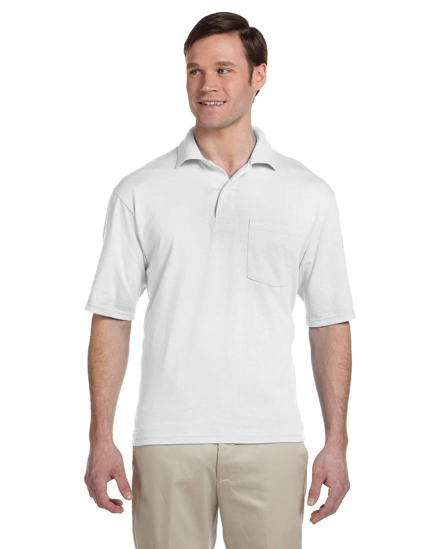 Jerzees Adult SpotShield™ Pocket Jersey Polo WHITE