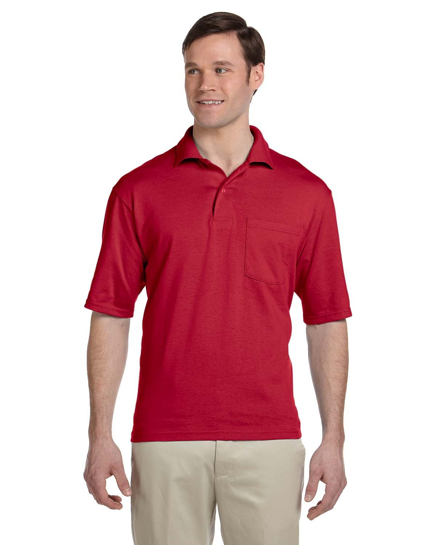 Jerzees Adult SpotShield™ Pocket Jersey Polo TRUE RED