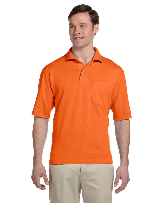 Jerzees Adult SpotShield™ Pocket Jersey Polo SAFETY ORANGE