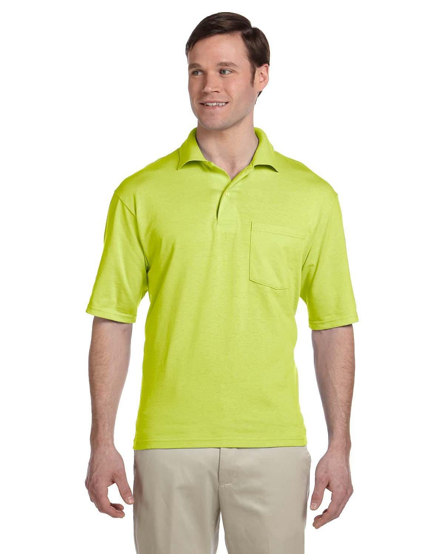 Jerzees Adult SpotShield™ Pocket Jersey Polo SAFETY GREEN